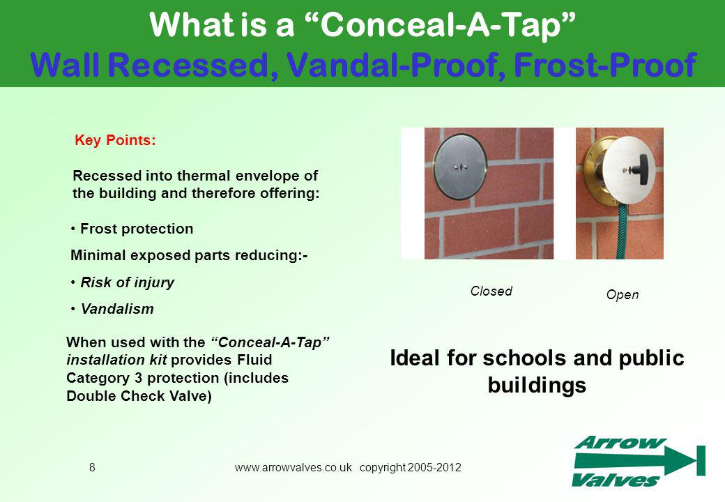 What is a Conceal-A-Tap Wall Recessed, Vandal-Proof, Frost-Proof