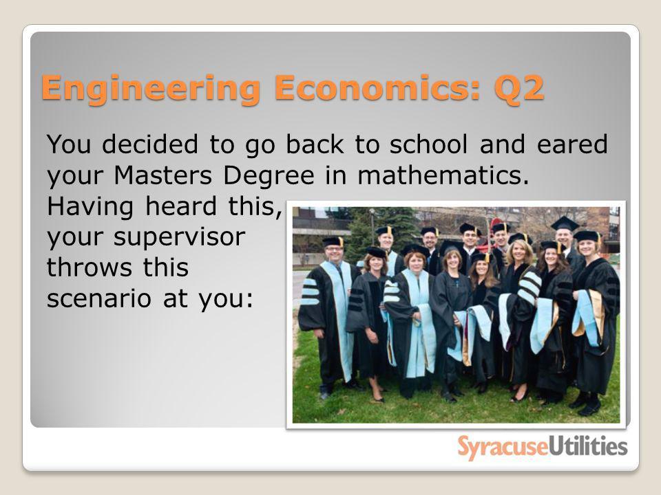 Engineering Economics: Q2