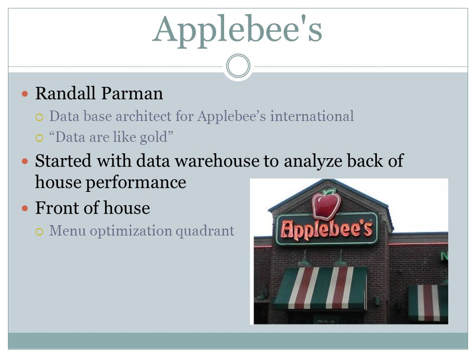 Applebee s Randall Parman