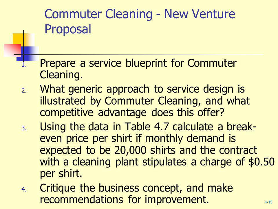 Commuter Cleaning - New Venture Proposal