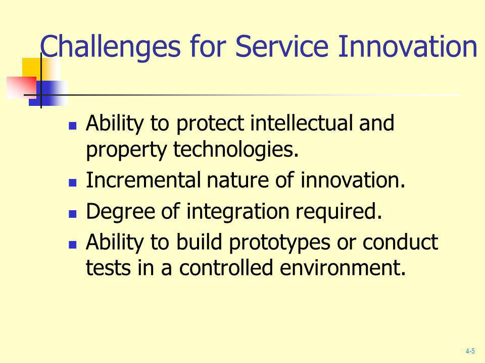 Challenges for Service Innovation