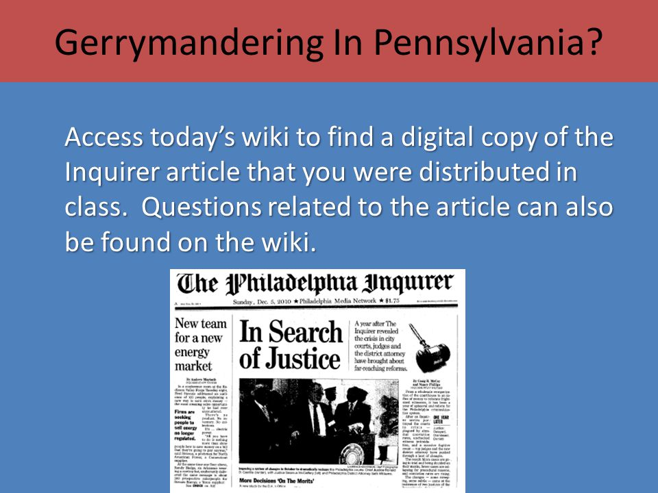 Gerrymandering In Pennsylvania