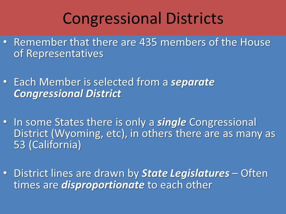 Congressional Districts