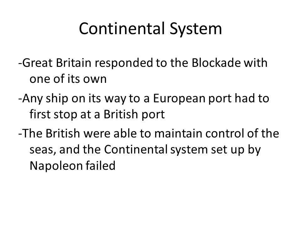 Continental System