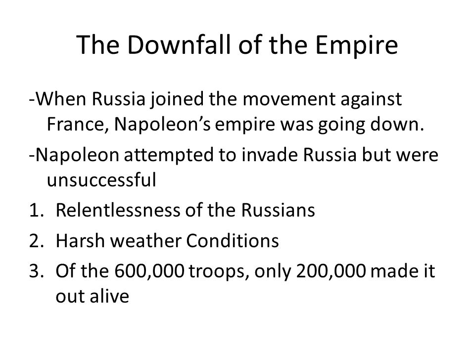 The Downfall of the Empire