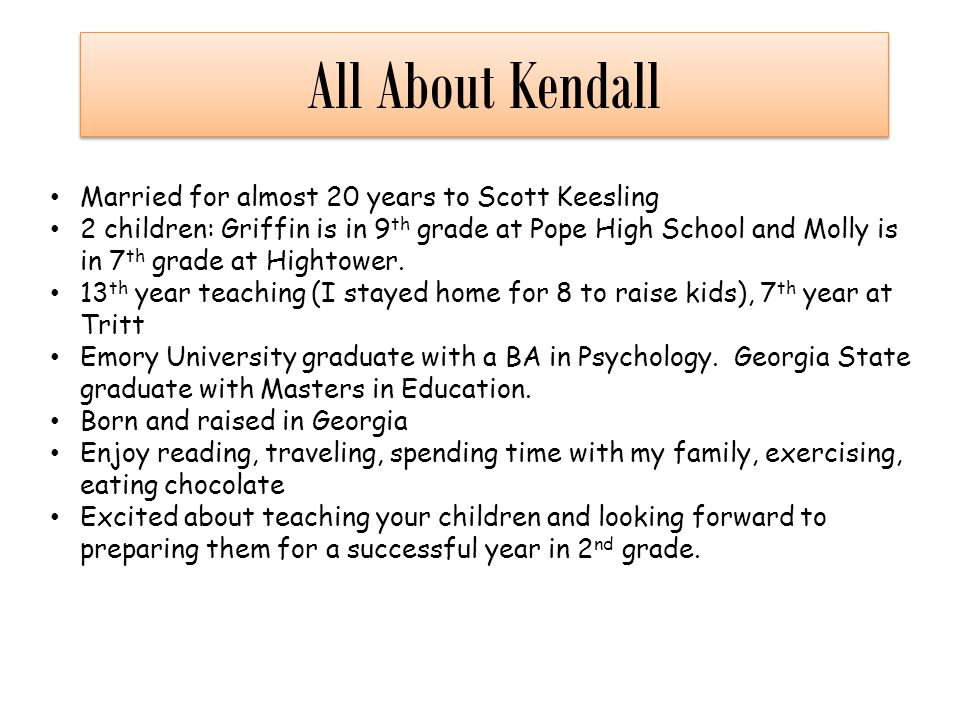 All About Kendall Married for almost 20 years to Scott Keesling