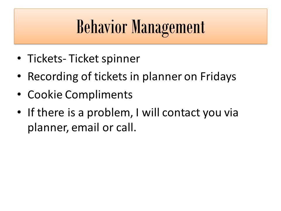 Behavior Management Tickets- Ticket spinner