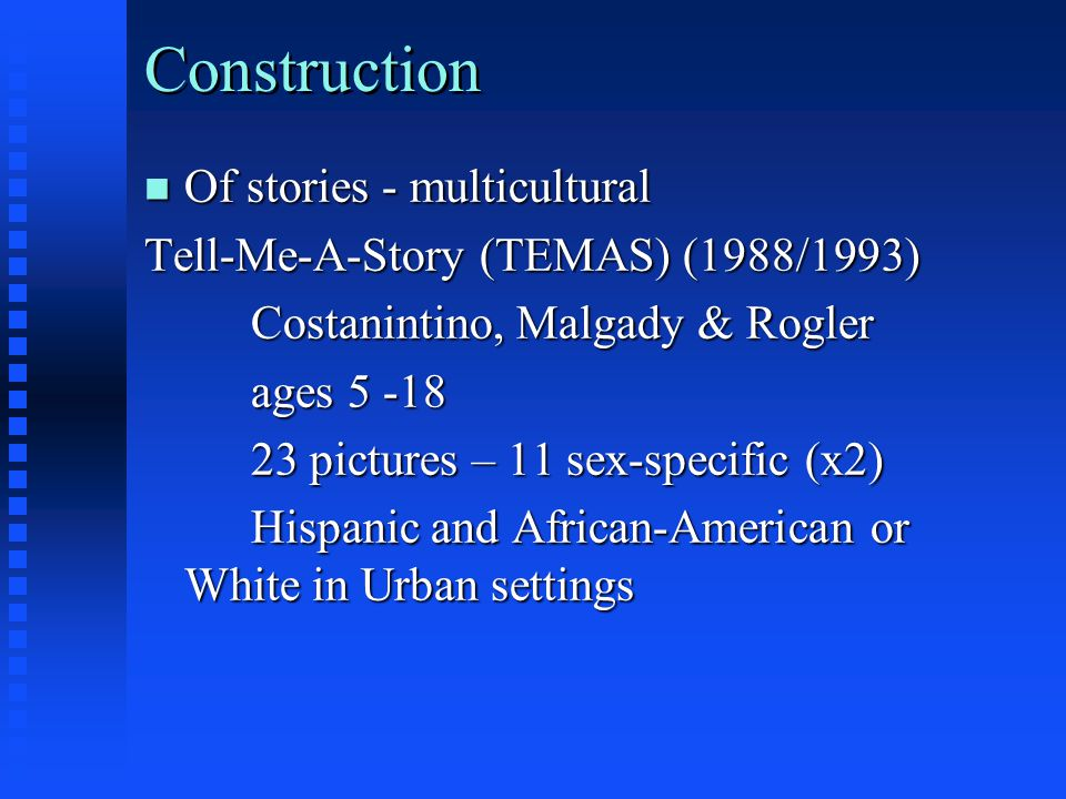 Construction Of stories - multicultural