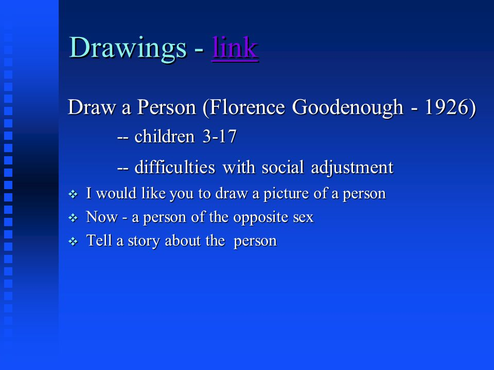 Drawings - link Draw a Person (Florence Goodenough - 1926)