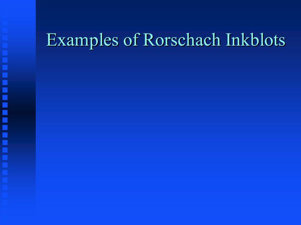 Examples of Rorschach Inkblots