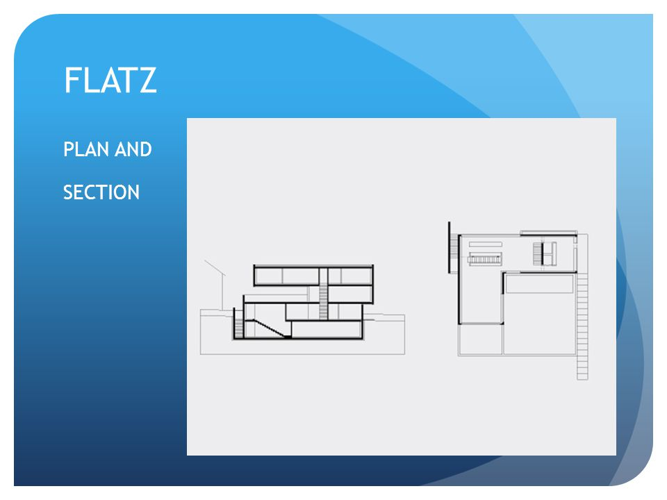 FLATZ PLAN AND SECTION