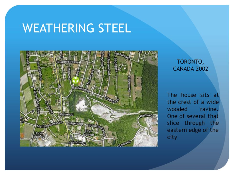 WEATHERING STEEL TORONTO, CANADA 2002