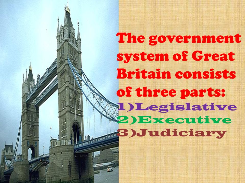 The government system of Great Britain consists of three parts: