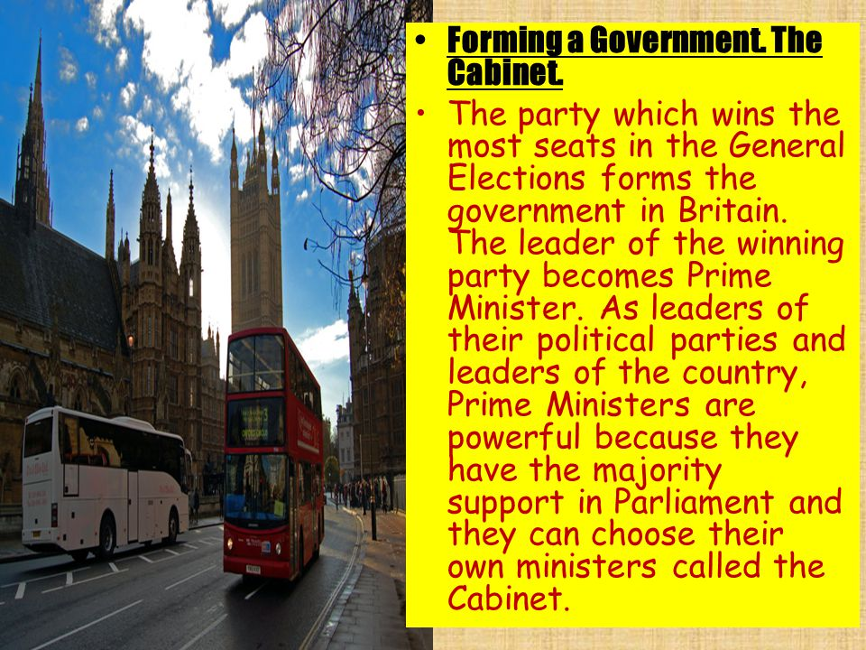 Forming a Government. The Cabinet.