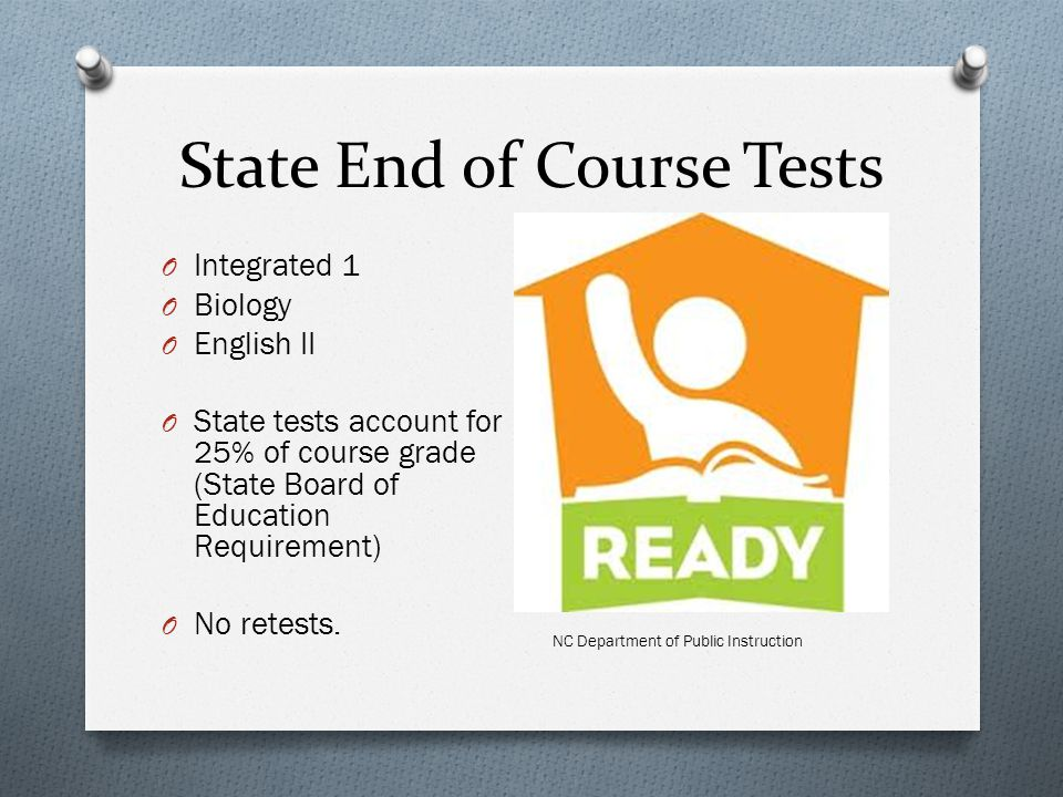State End of Course Tests