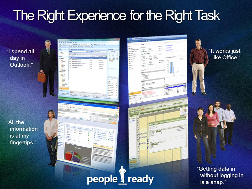 The Right Experience for the Right Task