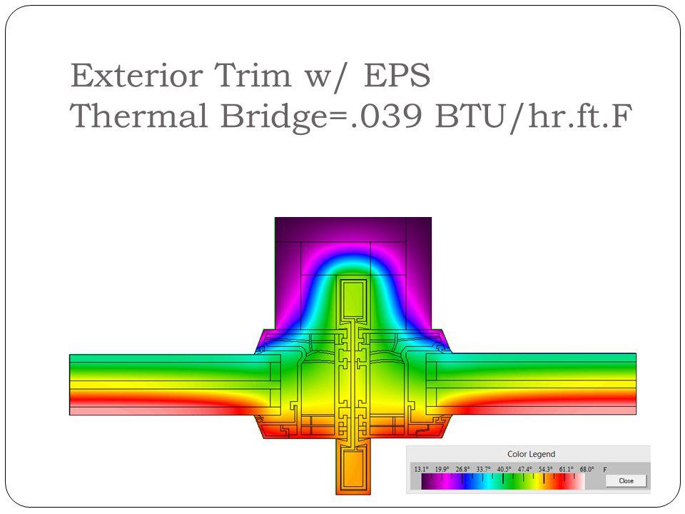 Exterior Trim w/ EPS Thermal Bridge=.039 BTU/hr.ft.F