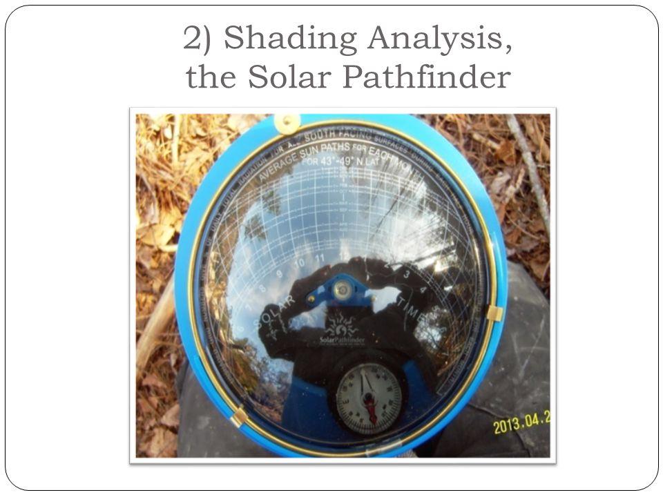 2) Shading Analysis, the Solar Pathfinder