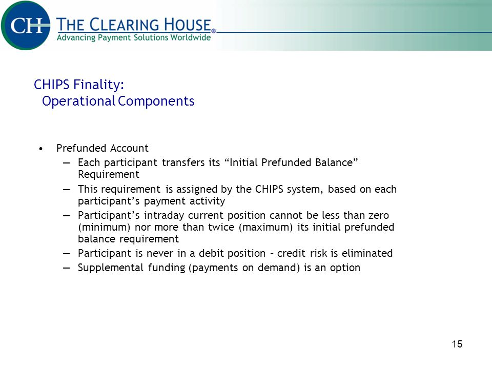 CHIPS Finality: Operational Components