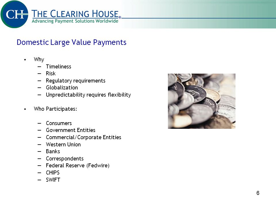 Domestic Large Value Payments