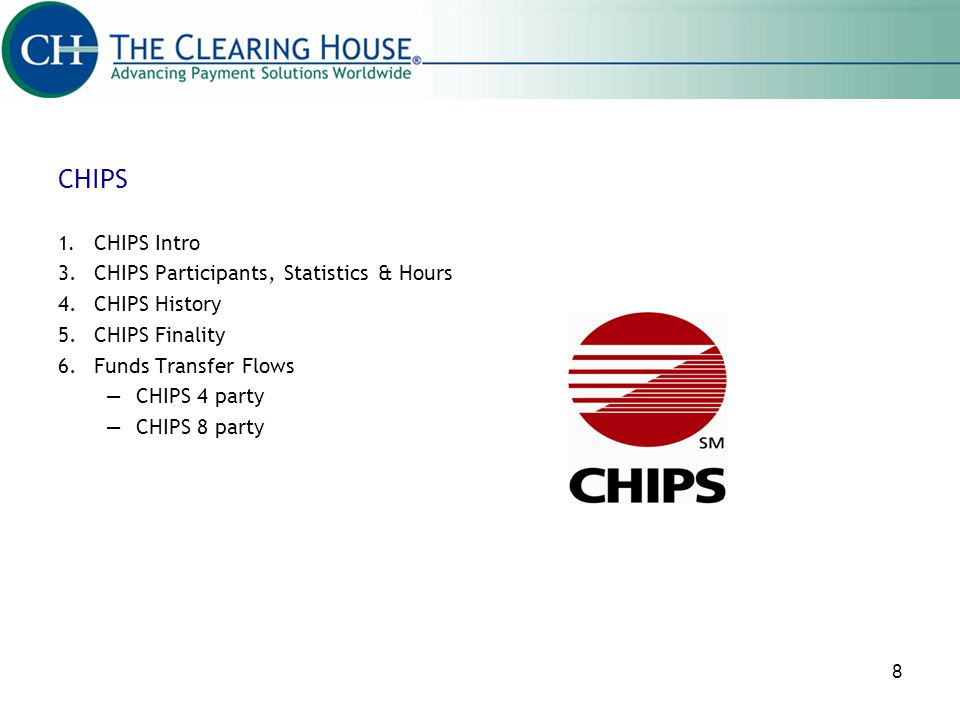CHIPS 3. CHIPS Participants, Statistics & Hours 4. CHIPS History