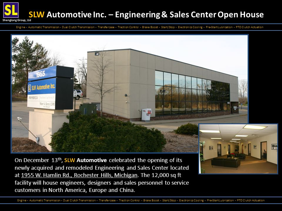 SLW Automotive Inc. – Engineering & Sales Center Open House
