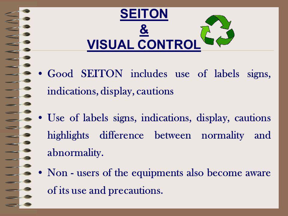SEITON & VISUAL CONTROL