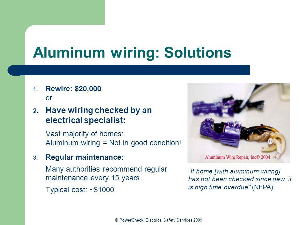 Aluminum wiring: Solutions