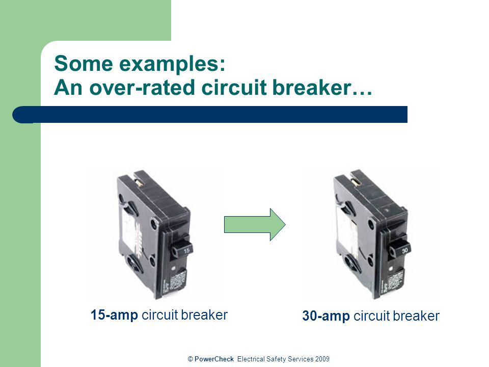 Some examples: An over-rated circuit breaker…