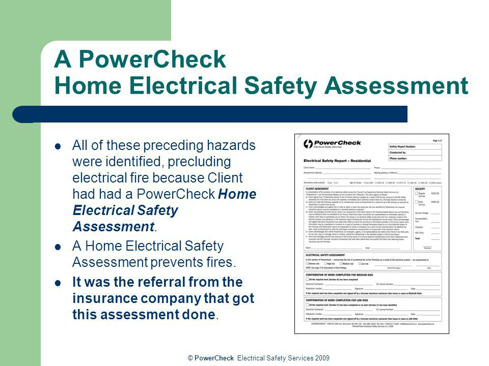 A PowerCheck Home Electrical Safety Assessment