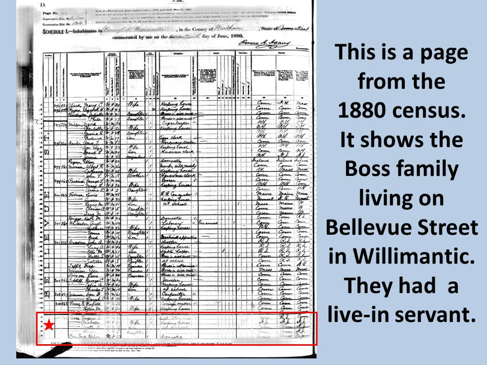 This is a page from the 1880 census