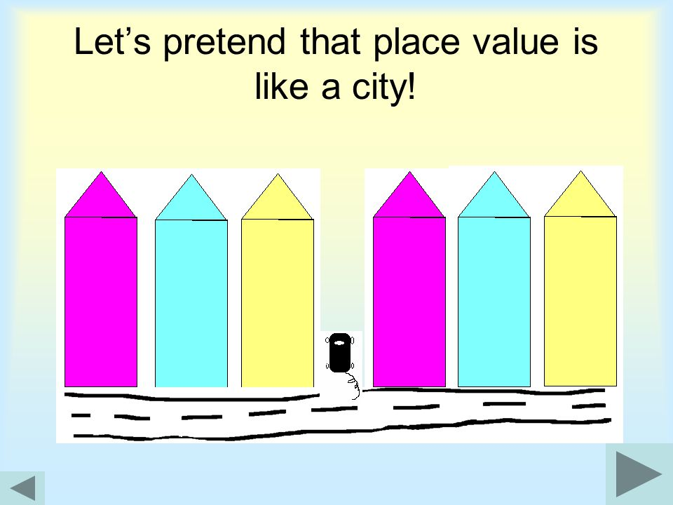 Let's pretend that place value is like a city!