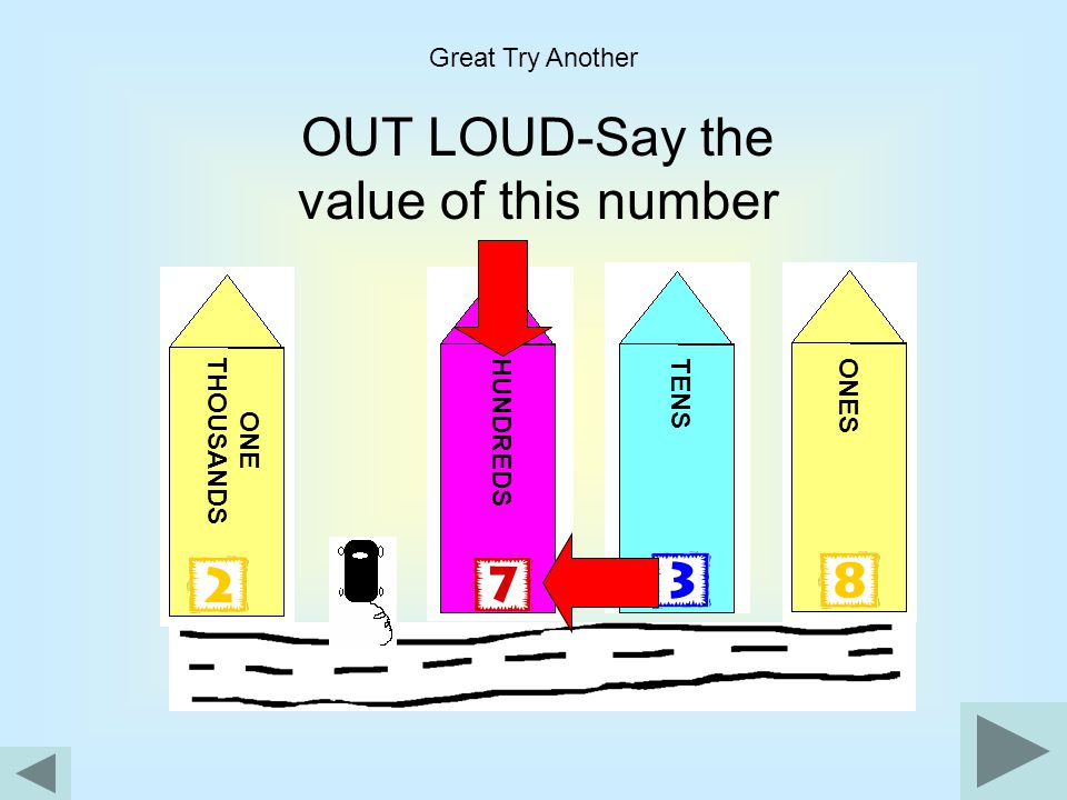OUT LOUD-Say the value of this number