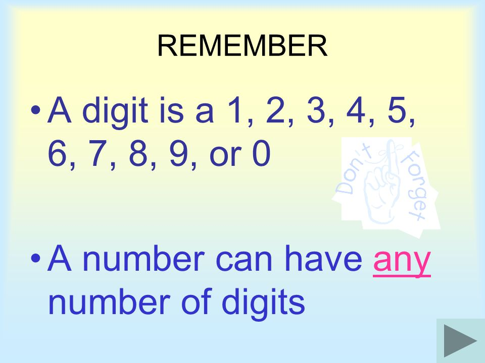 A number can have any number of digits