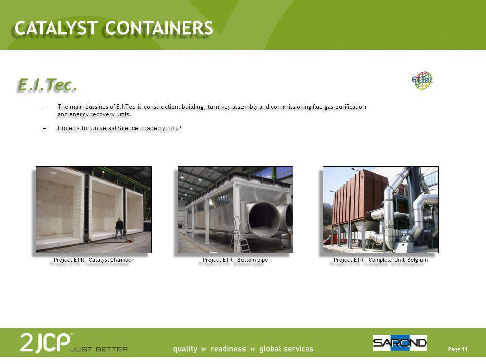 CATALYST CONTAINERS E.I.Tec.