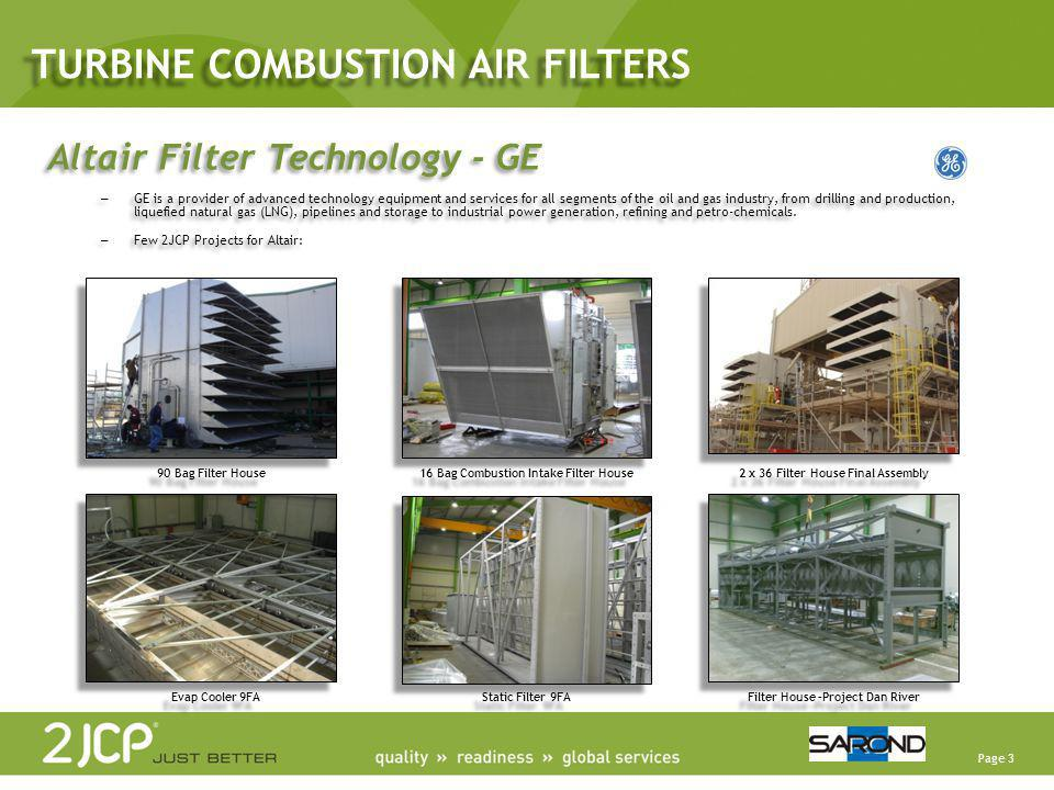 TURBINE COMBUSTION AIR FILTERS
