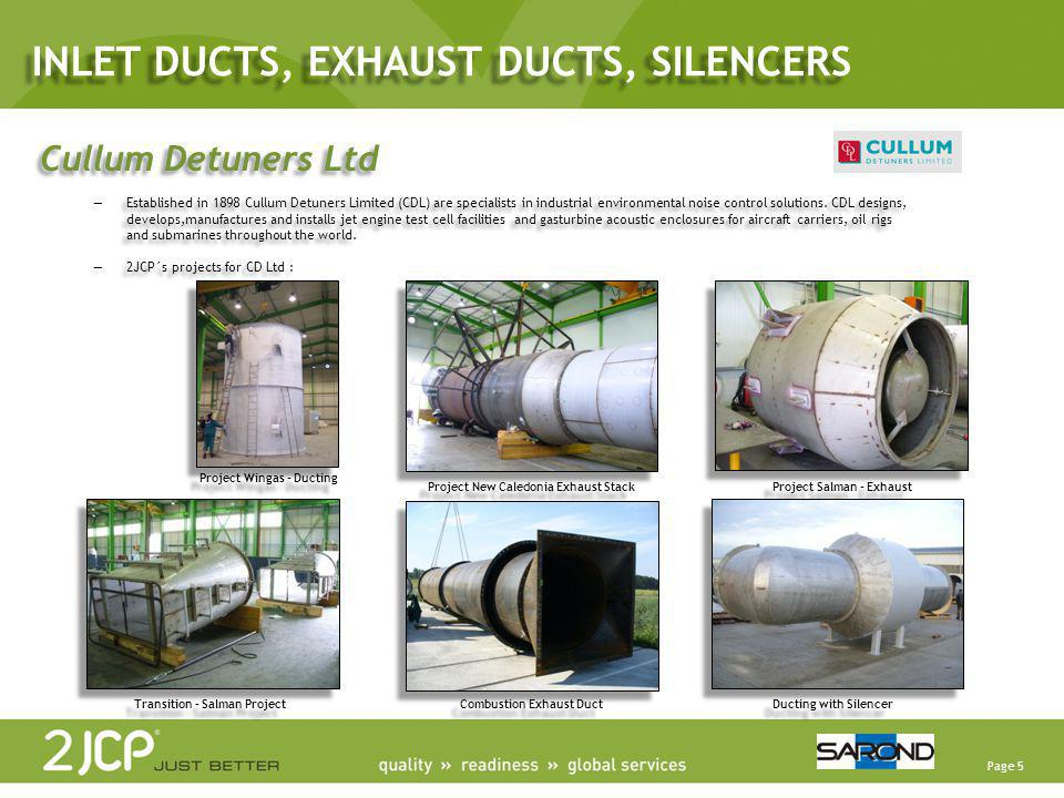 INLET DUCTS, EXHAUST DUCTS, SILENCERS