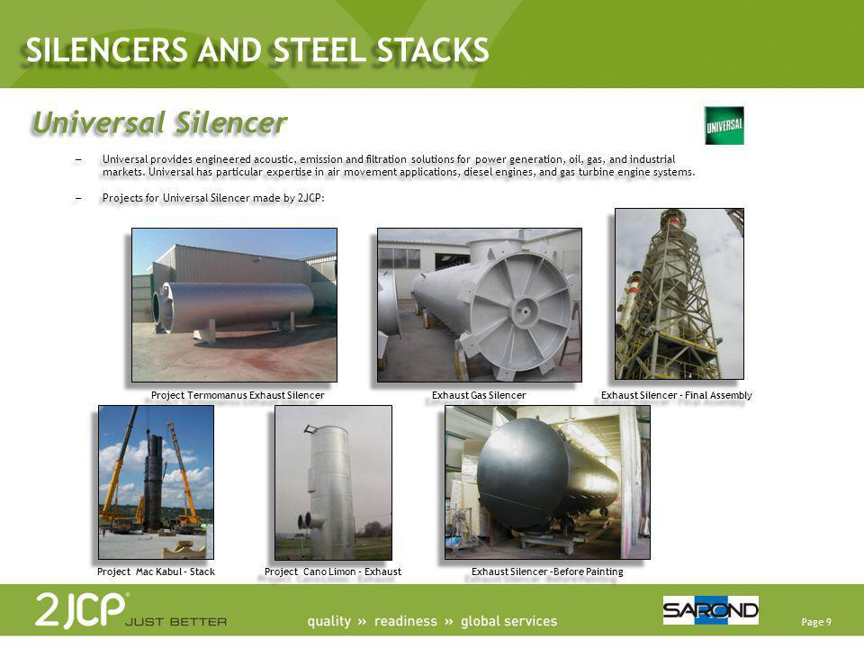 SILENCERS AND STEEL STACKS