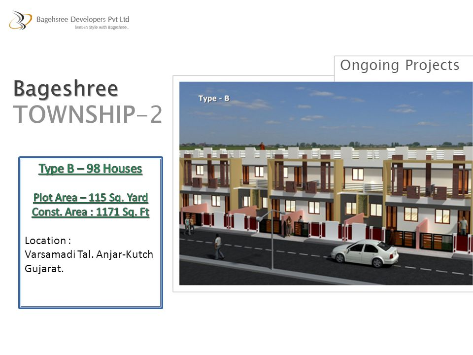 TOWNSHIP-2 Bageshree Ongoing Projects Type B – 98 Houses