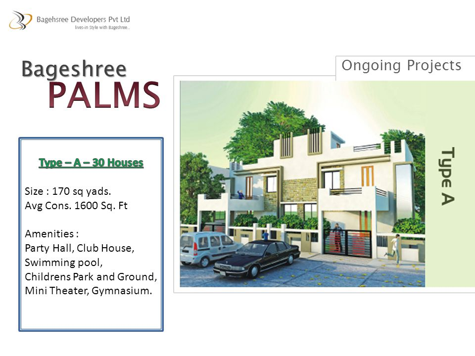 PALMS Bageshree Ongoing Projects Type – A – 30 Houses