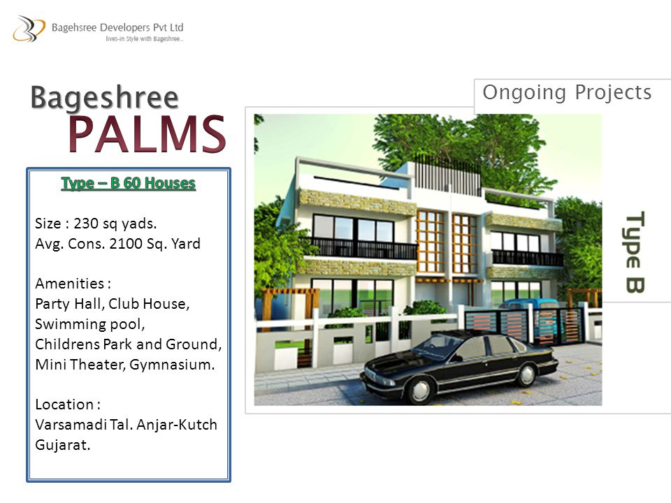 PALMS Bageshree Ongoing Projects Type – B 60 Houses
