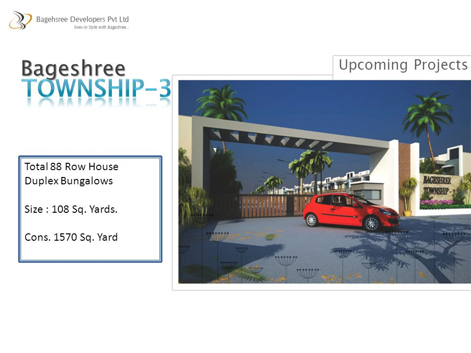 TOWNSHIP-3 Bageshree Upcoming Projects Total 88 Row House