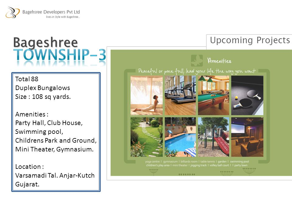 TOWNSHIP-3 Bageshree Upcoming Projects Total 88 Duplex Bungalows