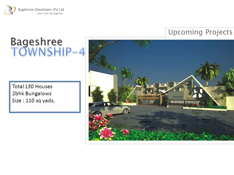 TOWNSHIP-4 Bageshree Upcoming Projects Total 130 Houses 2bhk Bungalows