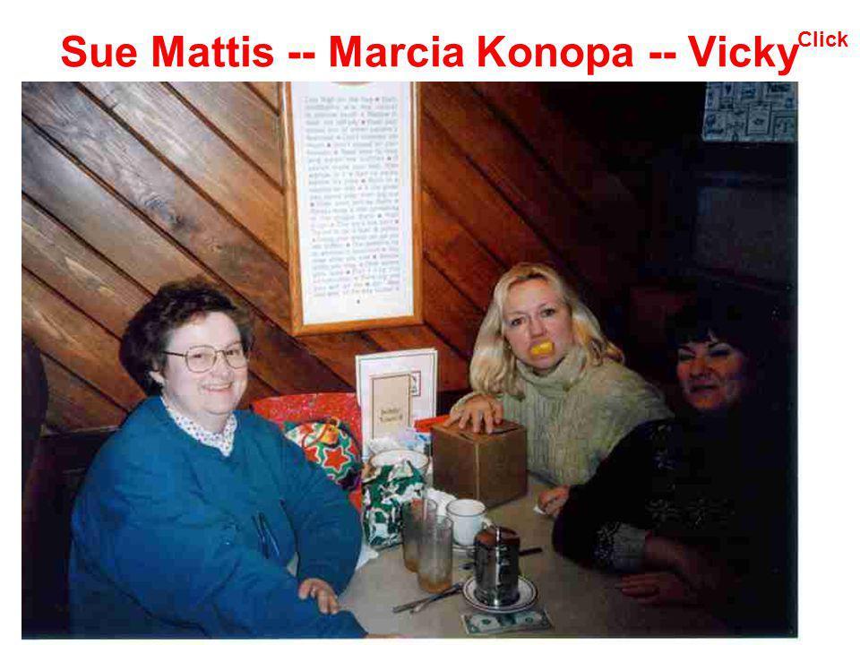 Sue Mattis -- Marcia Konopa -- Vicky