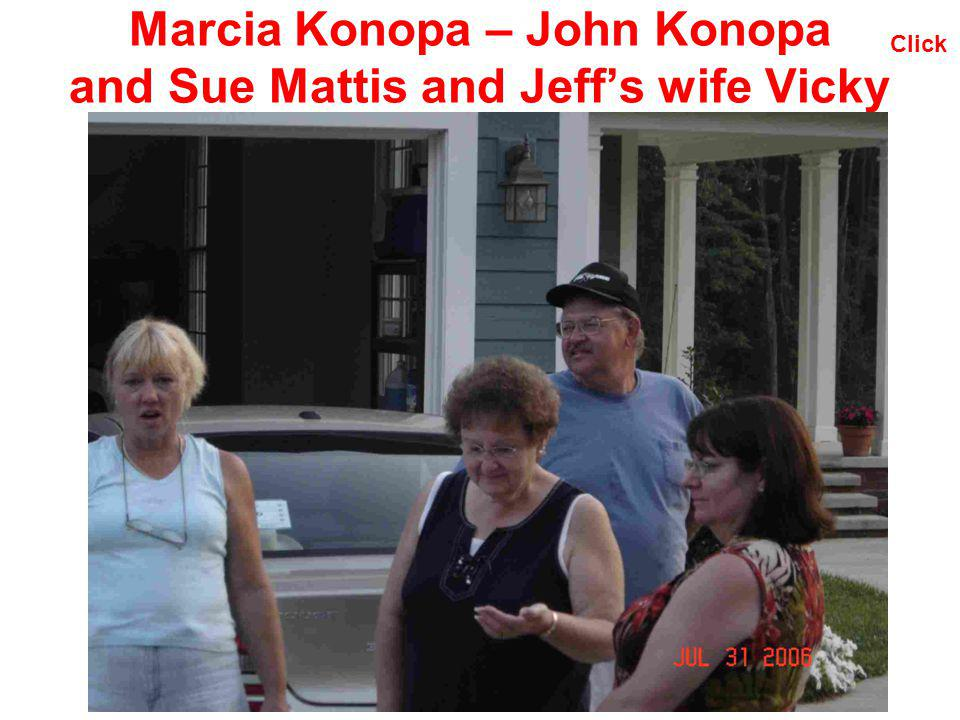 Marcia Konopa – John Konopa and Sue Mattis and Jeff's wife Vicky