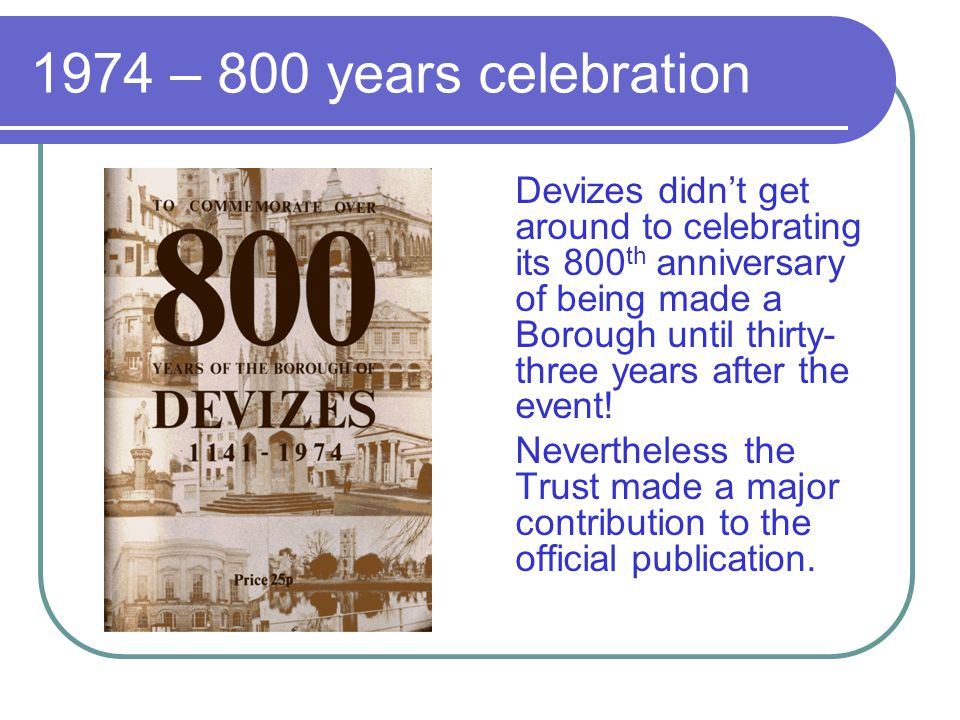 1974 – 800 years celebration