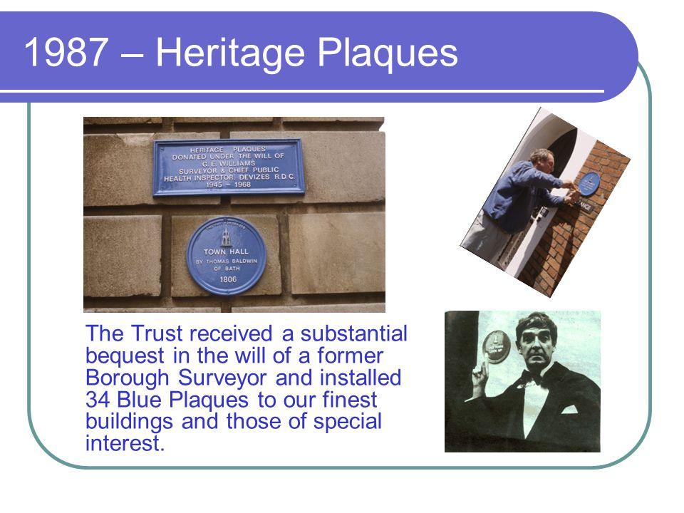 1987 – Heritage Plaques