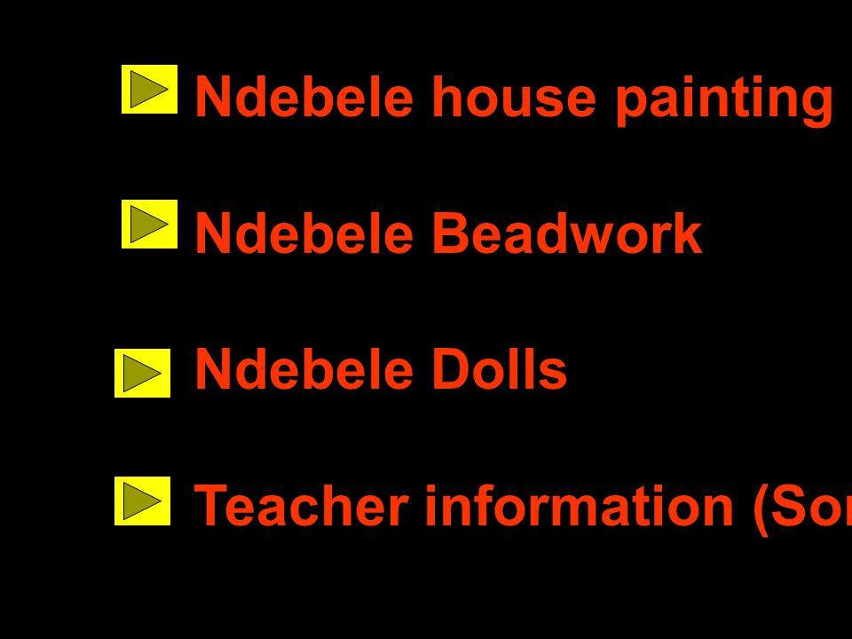 Ndebele house painting
