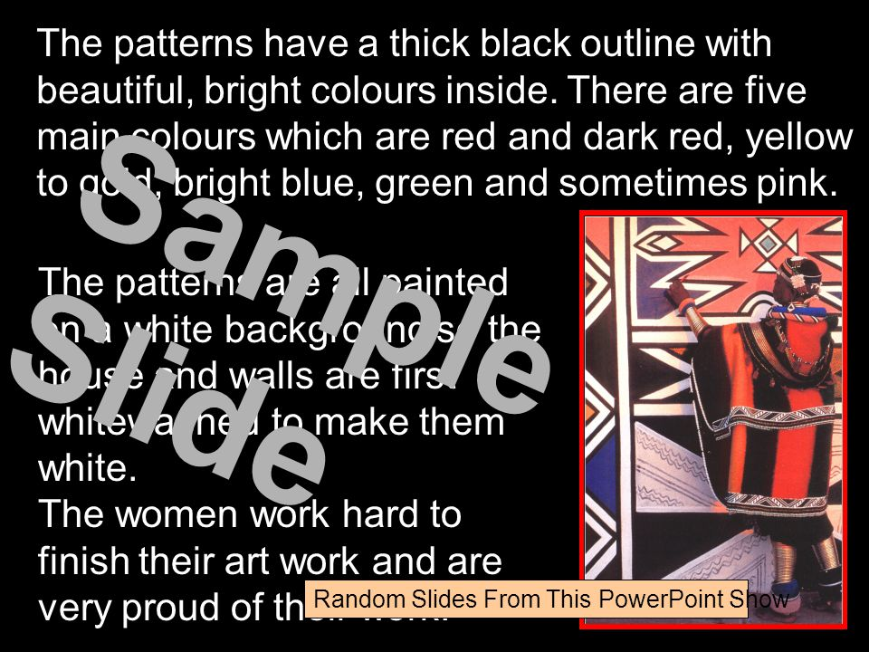 The patterns have a thick black outline with beautiful, bright colours inside. There are five main colours which are red and dark red, yellow to gold, bright blue, green and sometimes pink.